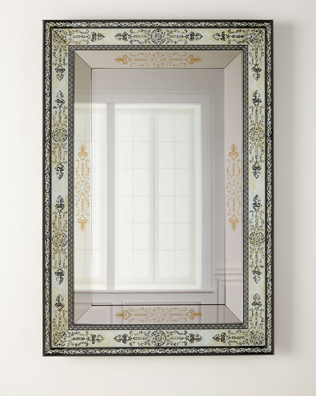 Painted Glass Mirror