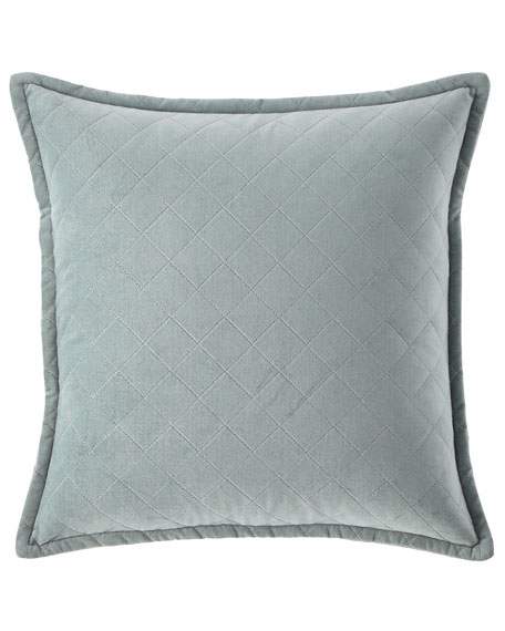 "Elite Velvet Diamond Pillow, 18""Sq."