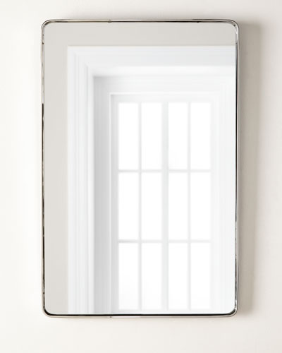 Stainless Steel Curved Rectangle Mirror  24 x 36