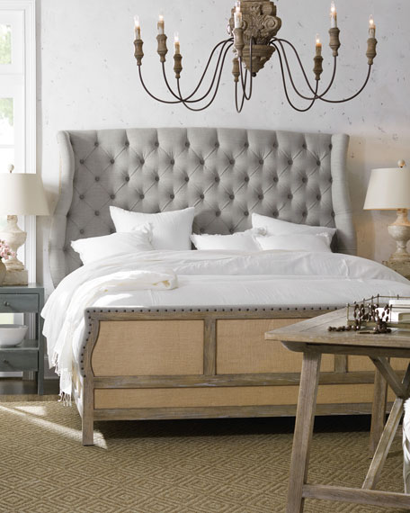 Jacie California King Tufted Shelter Bed