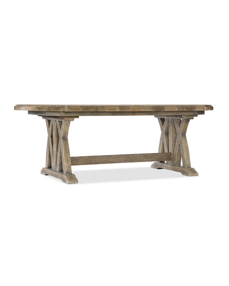 Awesome Lilith Trestle Dining Table