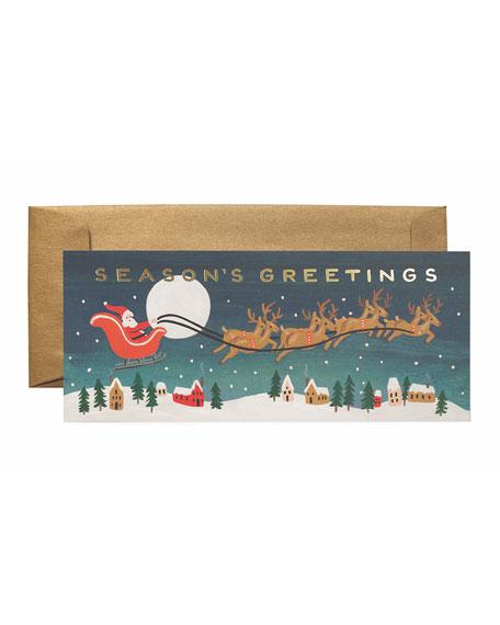 Santa's Sleigh No.10 Boxed Card Set, Set of 6