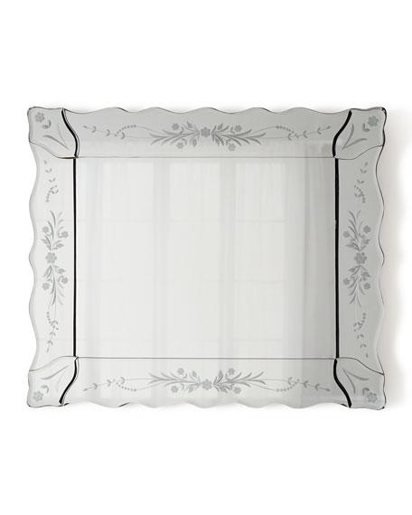 Mini Ornate Rectangular Venetian Mirror