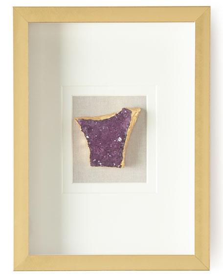 Natural Crystal in Golden Frame, Purple