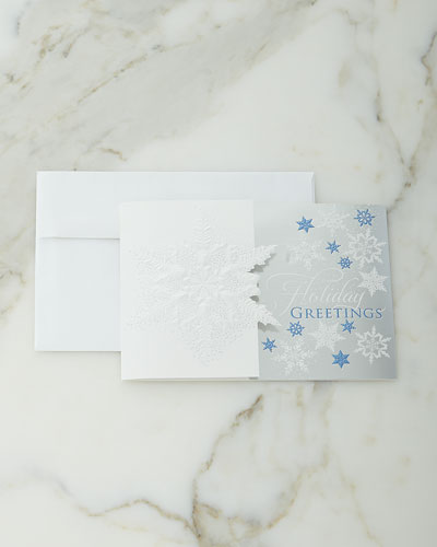 Subtle Snowflakes Cards, Personalized