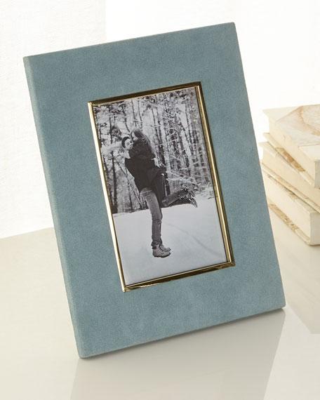 "Azure Valentina Suede Picture Frame, 4"" x 6"""