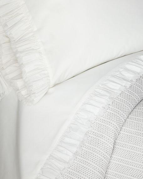 Laundered Ruffle Queen Sheet Set