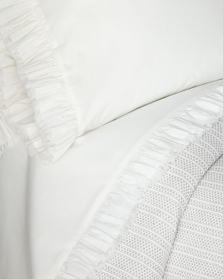 Laundered Ruffle Standard Pillowcase