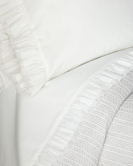 Laundered Ruffle King Pillowcase