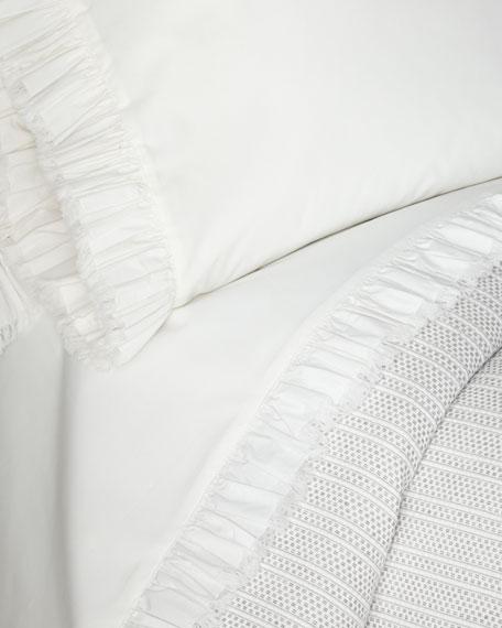 Laundered Ruffle King Pillowcase
