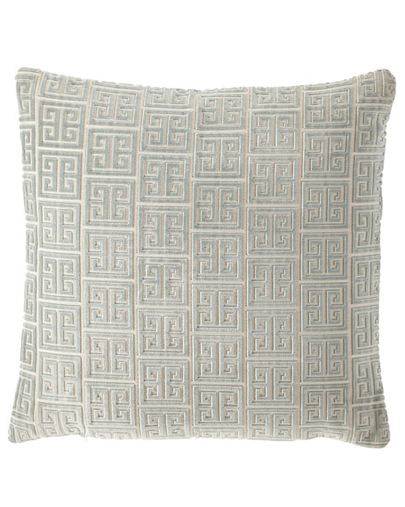 Lyssa Greek Key European Sham