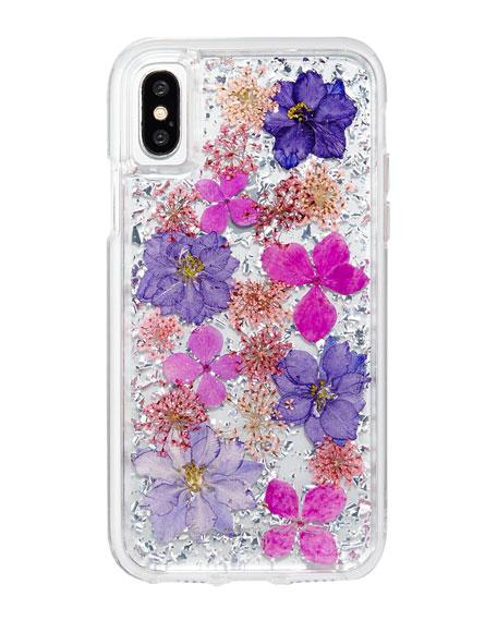 Petals iPhone® X Case, Purple
