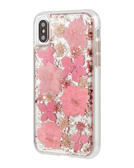 Petals iPhone® X Case, Pink