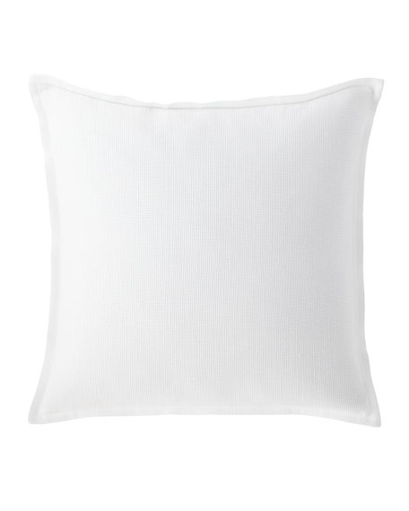 "Flora Waffle Weave Decorative Pillow, 20""Sq."