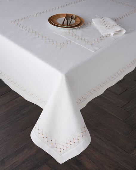 "Madeira Dots Tablecloth, 66"" x 138"""