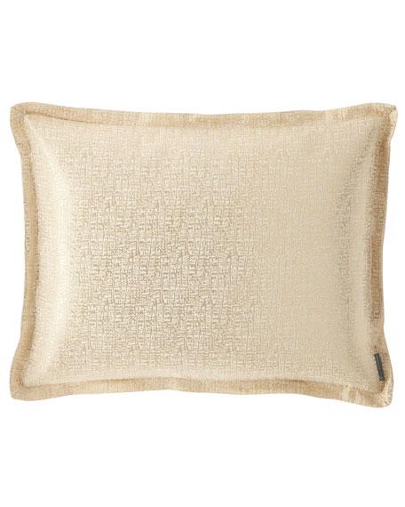 Sophia Standard Linen Lurex Pillow, Ivory