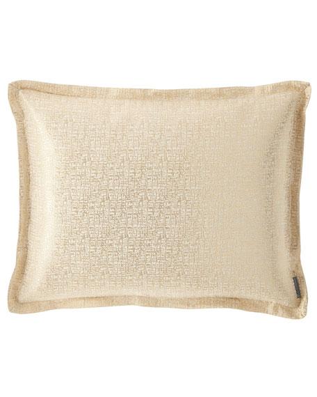 Sophia King Linen Lurex Pillow, Ivory
