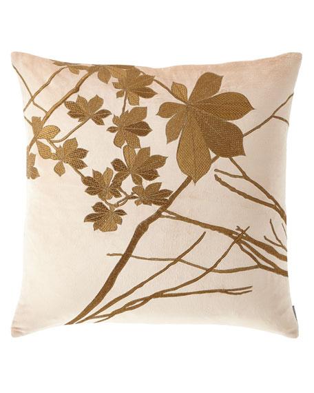 Leaf Decorative Velvet Pillow