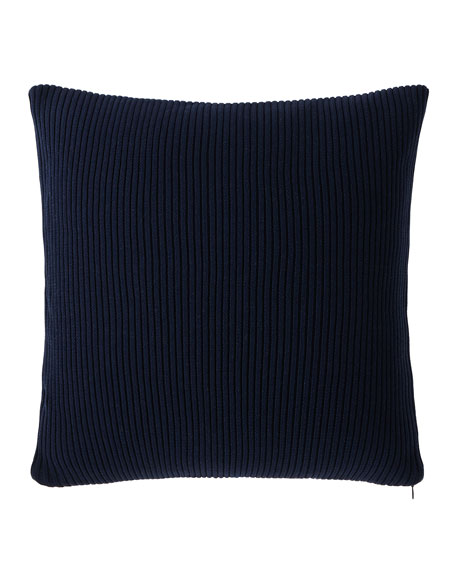 "Flora Rib-Knit Decorative Pillow, 18""Sq."