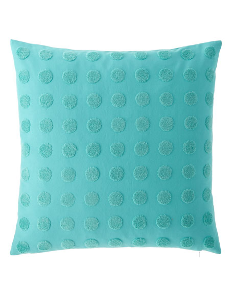 Pom Pillow, Blue