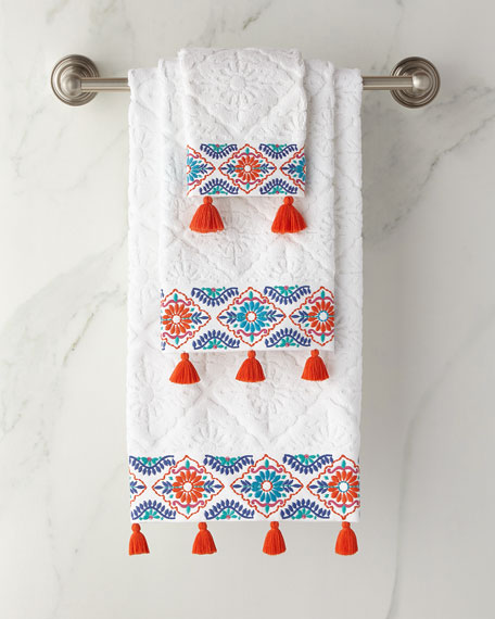 Aloka Coral Washcloth