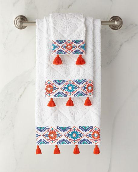 Aloka Coral Washcloth