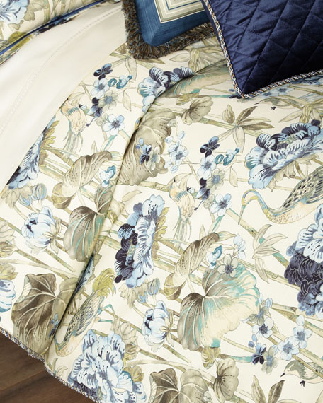 Peace Garden Queen Duvet