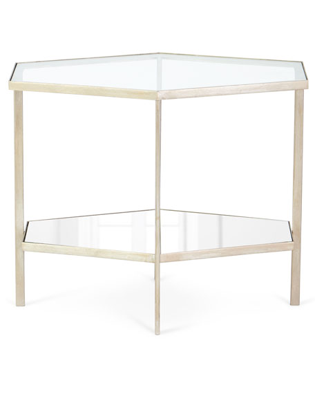 "Valeria Hexagon Side Table, 21""T"