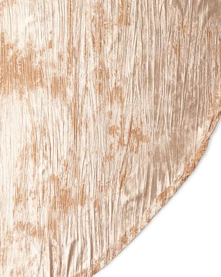 """Crushed Velvet Blush Table Skirt, 108"""""""