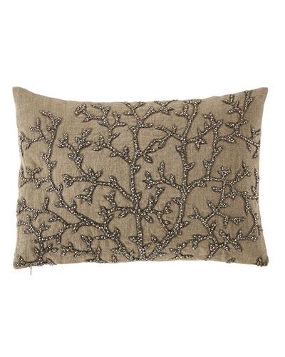 Tree of Life Beaded Pillow