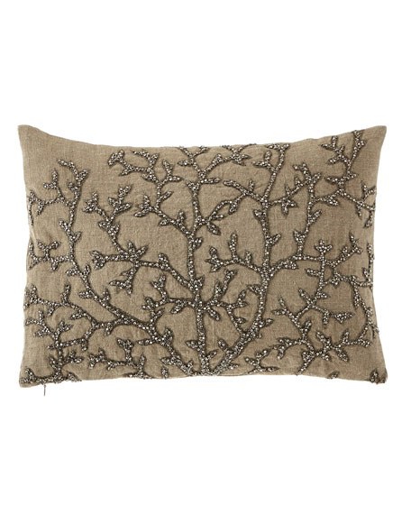 Tree of Life Beaded Pillow