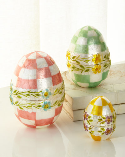 Pastel Floral Nesting Eggs