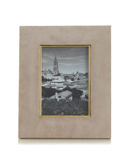"Dune Valentina Suede Picture Frame, 4"" x 6"""