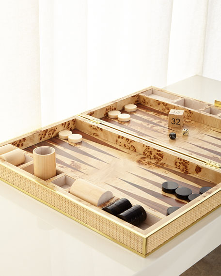 Cane Backgammon Set