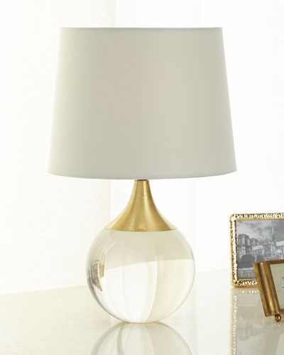 Designer table lamps at horchow fluted crystal ball lamp aloadofball Images