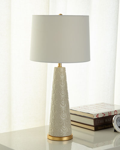 Scalloped Ceramic Lamp