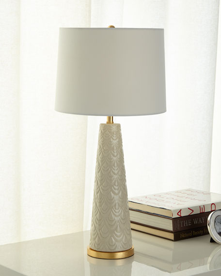 Scalloped Ceramic Lamp