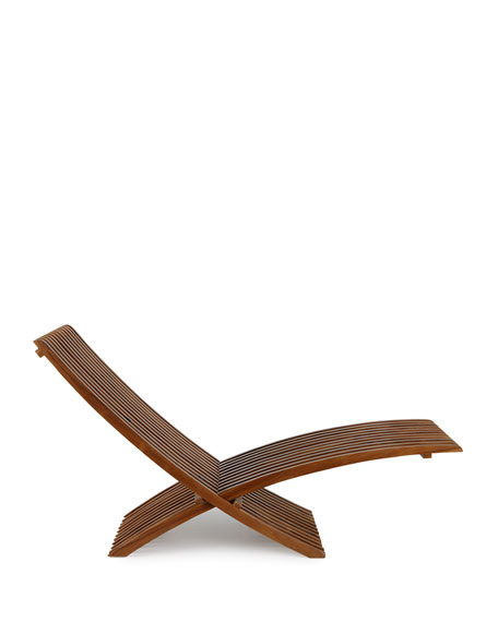 Teak Folding Lounge Chair