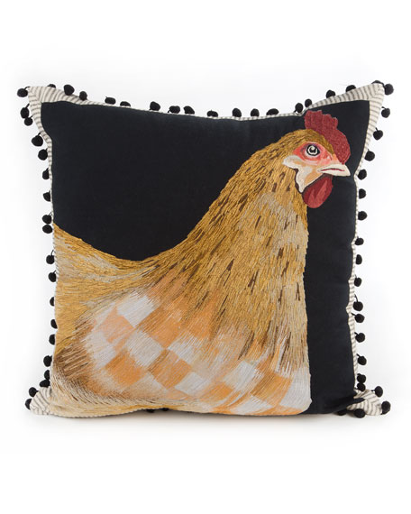 MacKenzie-Childs Chicken Pillow