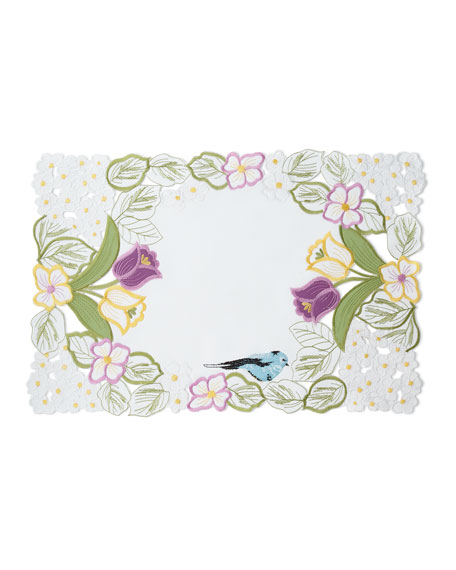 "Springtime 4-Piece Placemat Set, 14"" x 20"""