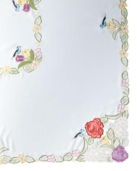 """Springtime 72"""" x 108"""" Tablecloth & 12 Napkins"""