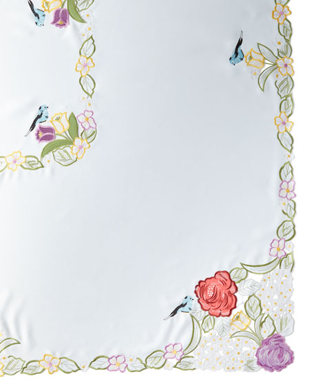 "Springtime 72"" x 126"" Tablecloth & 12 Napkins"