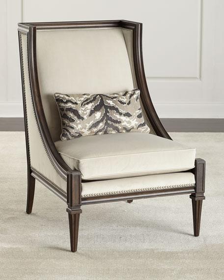 Evie Velvet Accent Chair