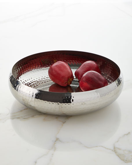 Godinger Hammered Belly Serving Bowl