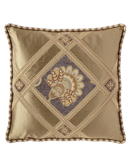 Golden Garden Pierced Boutique Pillow