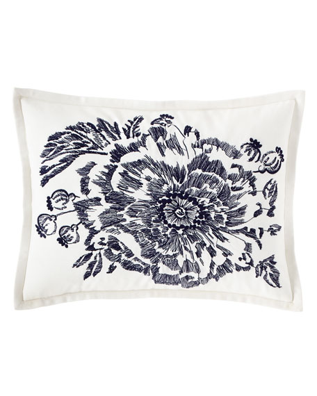 "Isadora Embroidered Decorative Pillow, 12"" x 16"""