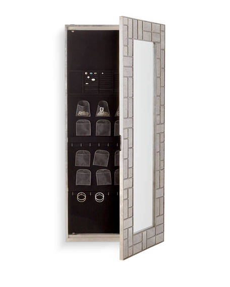 Solana Floor Mirror with Jewelry Storage
