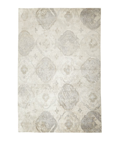 Cityscape Hand-Knotted Rug, 6' x 9'