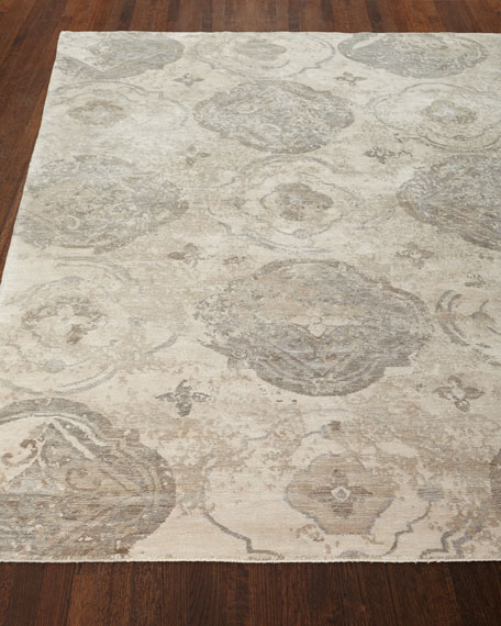 Cityscape Hand-Knotted Rug, 10' x 14'
