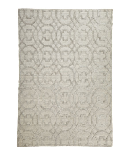Belmar Circles Hand-Knotted Rug, 6' x 9'